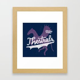 Thestrals Framed Art Print