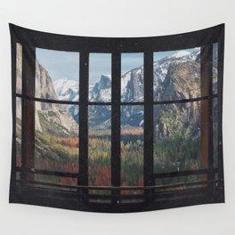 Yosemite Window Wall Tapestry