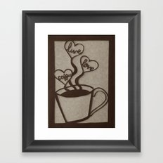Live, Love, Coffee Framed Art Print