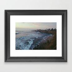 sunset cliffs.  Framed Art Print