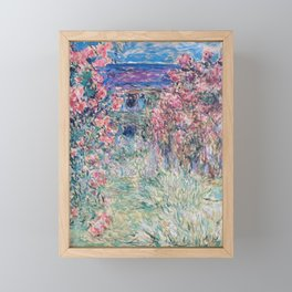 The House among the Roses by Claude Monet Framed Mini Art Print