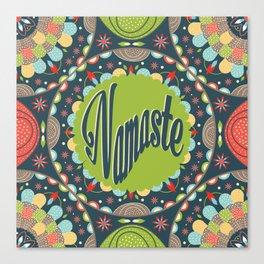 Mandala - Namaste Canvas Print