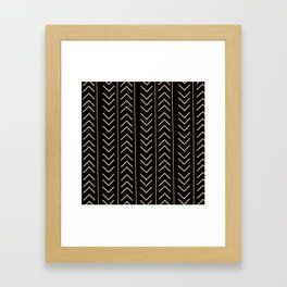 Mudcloth Black Framed Art Print