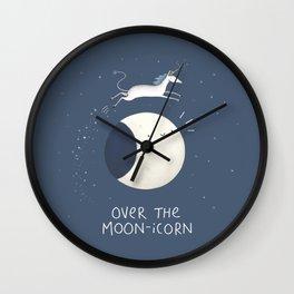 Over the Moon-icorn Wall Clock
