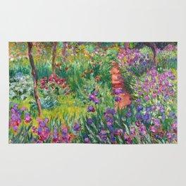 Claude Monet - The Iris Garden At Giverny Rug