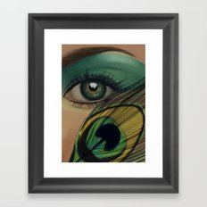 Through The Eye Of A Peacock Framed Art Print