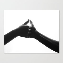 thumb war Canvas Print