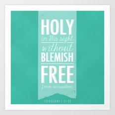 Colossians 1:21-22 Art Print