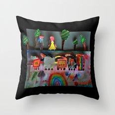Fantasy Train Throw Pillow