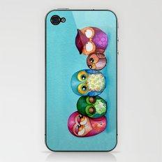 Fabric Owl Family iPhone & iPod Skin