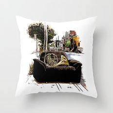 Chairs of Montreal Throw Pillow