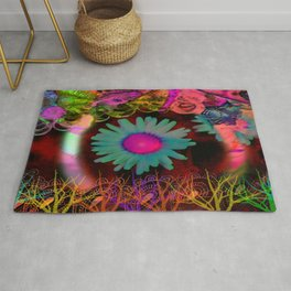 Tripping Daisies Rug