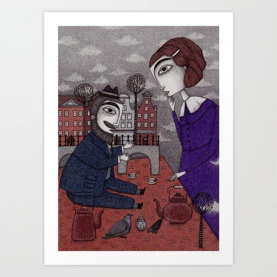 The Story Teller Art Print