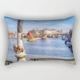 Pont des Arts on Valentine's day Rectangular Pillow