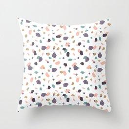 Pastel Terrazzo Throw Pillow
