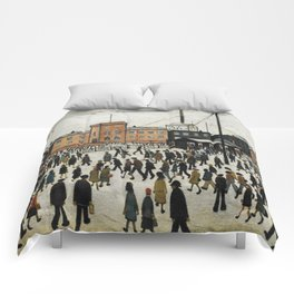 Going To Work L.S Lowry Comforters