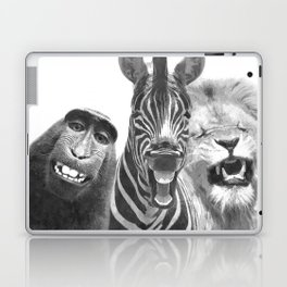 Black and White Jungle Animal Friends Laptop & iPad Skin