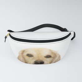 Golden retriever Dog illustration original painting print Fanny Pack