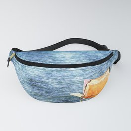 Summer holiday relaxing in the sun, digital art watercolor Fanny Pack