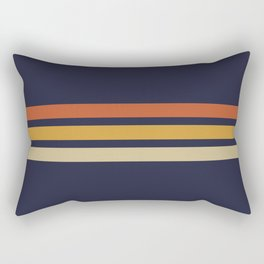 Vintage Retro Stripes Rectangular Pillow