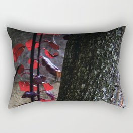 Urban tree with red leaves Rectangular Pillow