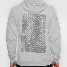 Hand Knit Dark Grey Hoody