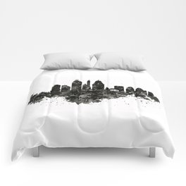 Cincinnati Skyline Black and White Comforters
