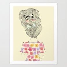 I Love Bows Art Print