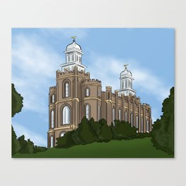 Logan Temple Canvas Print