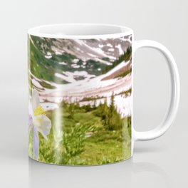High Country Summer Wildflowers Crested Butte Colorado Mountain Landscape Coffee Mug
