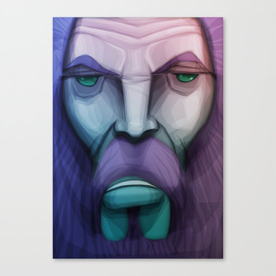 old wizard Canvas Print
