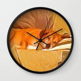 Lucy Sleeping East Wall Clock