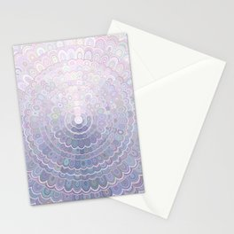 Pale Flower Mandala Stationery Cards