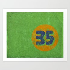 Vintage 35 Circle Art Print