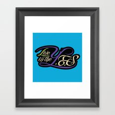 Live In The YES Logo Framed Art Print