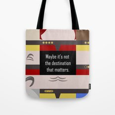 Maybe it's not the Destination that matters - Star Trek: Voyager VOY startrek trektangle minimalist Tote Bag