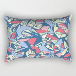 Geometric pastels Rectangular Pillow