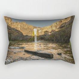 Losing Light - Washington Waterfall Nature Photography Rectangular Pillow