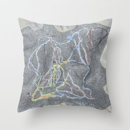 Red Lodge Resort Trail Map Throw Pillow