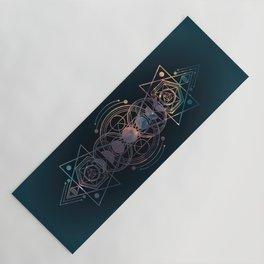 Dark Moon Phase Nebula Totem Yoga Mat