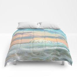 Frozen waves Comforters