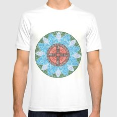 stained flower MEDIUM White Mens Fitted Tee