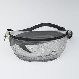 Jumping wild bottlenose dolphin black and white Fanny Pack