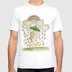 Rain Mens Fitted Tee MEDIUM White