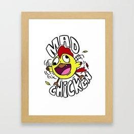 Mad Chicken Framed Art Print