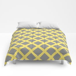 Grey and Yellow Grill Comforters