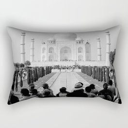 Taj Mahal with people Rectangular Pillow