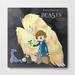 Fantastic beasts and where to find them. Metal Print
