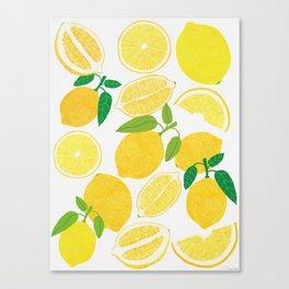 Lemon Harvest Canvas Print