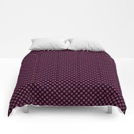 Black and Festival Fuchsia Polka Dots Comforters